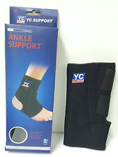 Neoprene Adjustable Ankle Support 2 Straps 2 Stabilizers Sport Sprain Injury 765