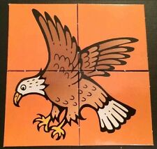 *I Know My ABCs Book 8 Puzzles 16 Pieces Reversible Eagle Fish Train Skunk King