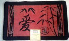 "Asian Bamboo Oriental Hand Carved Bath Mat 31.5""x19.7"" by Popular Bath"