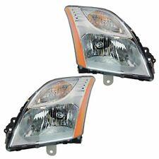 Headlight Head Light Lamp LH & RH Pair Set of 2 for 10-12 Nissan Sentra 2.0L