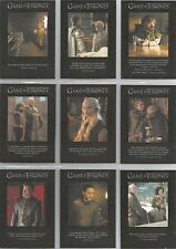 """Game of Thrones Season 6 - """"Quotable"""" 9 Card Chase Set #Q51-59"""