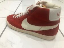 Nike Blazer Red UK 10.5 High Top Suede Great Condition Vintage 70's