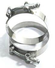 """2 PCS SS TBolt Clamp Fits over 3.5"""" ID Silicone Intake Turbo Intercooler Coupler"""