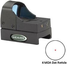 Weaver Micro Dot Reflex Red Dot Sight 4 MOA Dot with Weaver-Style Mount 849255