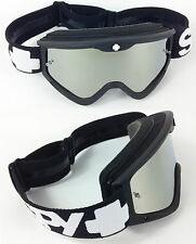Spy Optics Targa 3 Motocross Mx Goggles Black Sabbath Con Plata Lente Espejo