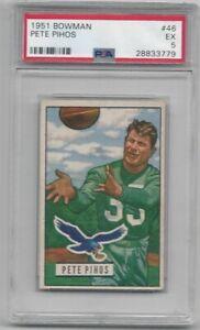 1951 Bowman Pete Pihos #46! PSA 5!