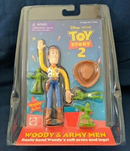 Toy Story 2 Bendy Woody and Army Men Figure in sealed pack