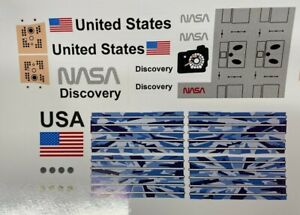 Custom Replacement Stickers for 7470 Space Shuttle Discovery