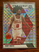 2019-20 Panini Mosaic Basketball Coby White Silver Reactive Prizm Rookie Debut