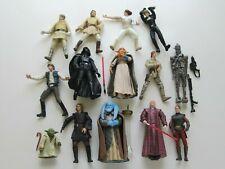 14 Star Wars 2000-2004 Action Figures lot loose Han Solo Darth Vader Saga Potj