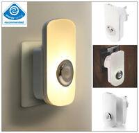2 In 1 LED Night Light Plug In Auto Sensor Energy Saving Children Nursery Safety