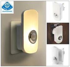 2 en 1 LED Lámpara Mesilla Con Enchufe Auto Sensor Ahorro De EnergíA