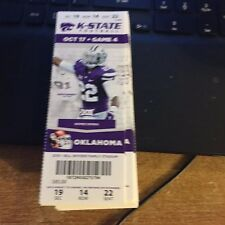 2015 KANSAS STATE WILDCATS VS OKLAHOMA SOONERS FOOTBALL TICKET STUB 10/17