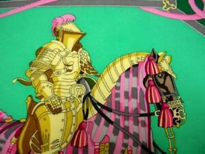 USED FOULARD SCARF HERMES PARIS Les Muserolles by Christiane Vauzelles