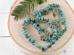TURQUOISE Crystal Bracelet, Chip Beads, Beaded Bracelet, Handmade Jewelry, E0726