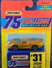 Matchbox MB 31 Jaguar XJ-220 Gold Challenge 1997 Mint On Card