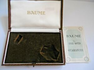 LOVELY VINTAGE 1960'S BAUME WATCH BOX WITH BAUME THE GOOD WATCH GUARANTEE