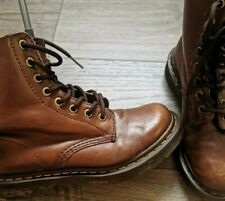 DR MARTENS PASCAL LEATHER BOOTS BROWN SIZE 3