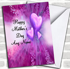 Purple Hearts Mother's Day Customised Card