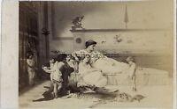 Foto CDV da Goupil di dopo un Cruscotto Vintage Albumina