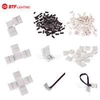 RGB LED Stripe ACCESSORI rapidamente connettore Jack cavo Clip 8/10mm 2/3/4 Pin