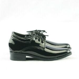 1/4 1/3 Uncle BJD Shoes Solid Bright Black Leather Mirror Suit Shoes DZ DIKA
