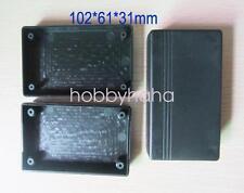 2pcs Black Electrical Instruments Plastic Box 102*61*31mm DIY