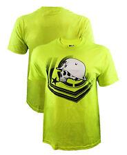 Metal Mulisha Check Point Yellow T-Shirt Motorcross X-Games Medium Large XL XXL