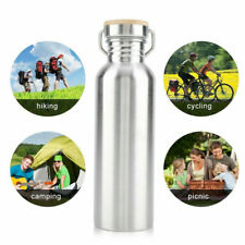 Sport Stainless Steel Water Bottle Travel Drink Cup Large Mouth Hiking Camping