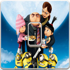 Despicable Me Minions Light Switch Vinyl Sticker Decal for Kids Bedroom #280