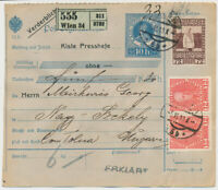 ÖSTERREICH 1913 72+2*12h BEGLEITADRESSE, WIEN nach NAGY-SZÉKELY (Ungarn)