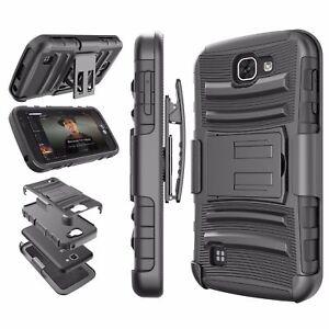 BLACK Hybrid 3 in 1 TPU+PC Case For LG Optimus Zone 3 K4 Spree VS425/K3 LS450