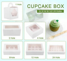 1/2/4/6/12/24 Holes Cupcake Box Window Face Cake Boxes Boards Cupcake Boxes