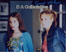 SARAH MICHELLE GELLAR & MICHELLE TRACHENBERG signed BUFFY photo - D4694