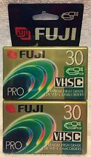 Fujifilm pro TC-30 2 pack new vhs-c video cassettes