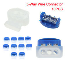 10 Pc Electrical Outdoor Applications Wire Connector 3-Way Terminal Accessor Wf