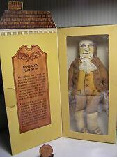 "7"" Hallmark Cloth ""Benjamin Franklin""  Doll  # 250DT900-3 N/D Has the Box"