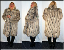 New Platinum Fox Fur Coat Size 2 Extra Large 2XL Efurs4less