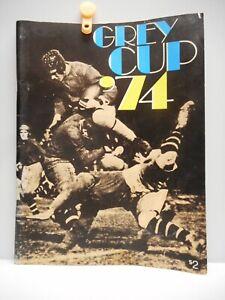 "Vintage - ""GREY CUP '74"" 1974 Program  -  MONTREAL ALOUETTES vs EDMONTON ESKIMOS"