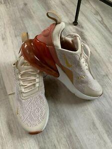Nike Air Max 270 Light Cream/Metallic Gold AH6789 203 Women's Size 7.5