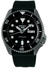 Seiko 5 Sports Black Dial Silicone Strap Automatic Mens Watch SRPD65K2 RRP £280