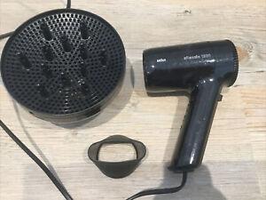 Braun Silencio 1200 Hairdryer With Attachments Drier Diffuser