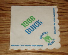 Original 1966 Buick Wildcat Power Napkin 66