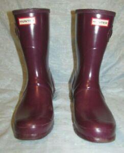 Women's HUNTER Short Rain Boots Size 10