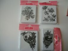 Brand New La Blanche Foam Ink Stamps x4 Floral Buildings Nature 2 Sizes