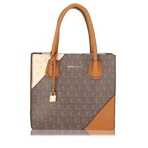 Ladies Handbag Work Designer Brown Print Women's Fashion Handbag 00740