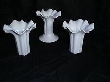 weiße Vase Hutschenreuther - wunderschön geschwungene Öffnung -absolut neuwertig