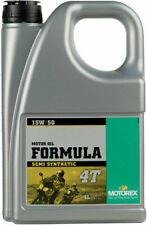 Motorex Formula 4T Semi-Synthetic 4-Stroke Motor Oil, 15W-50, 4 Liter, 196055