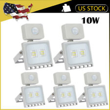 5 x10W PIR Motion Sensor LED Flood Light Outdoor Wall Security Cool White Lamp