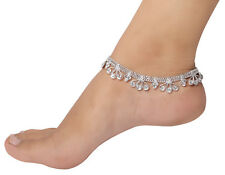 Silver Tone Plated Anklet Ankel Designer Payal Fashion Jewellery Foot Chain
